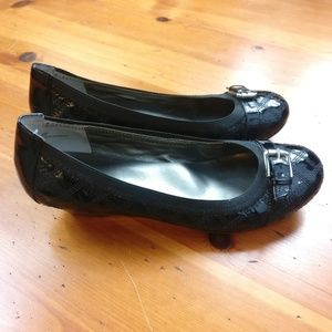 me too Shoes - Me Too Patent Leather Wedge Black Shoes